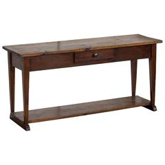 Antique French Farmhouse Serving Table