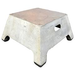 Industrial Aluminum Train Conductor Stool