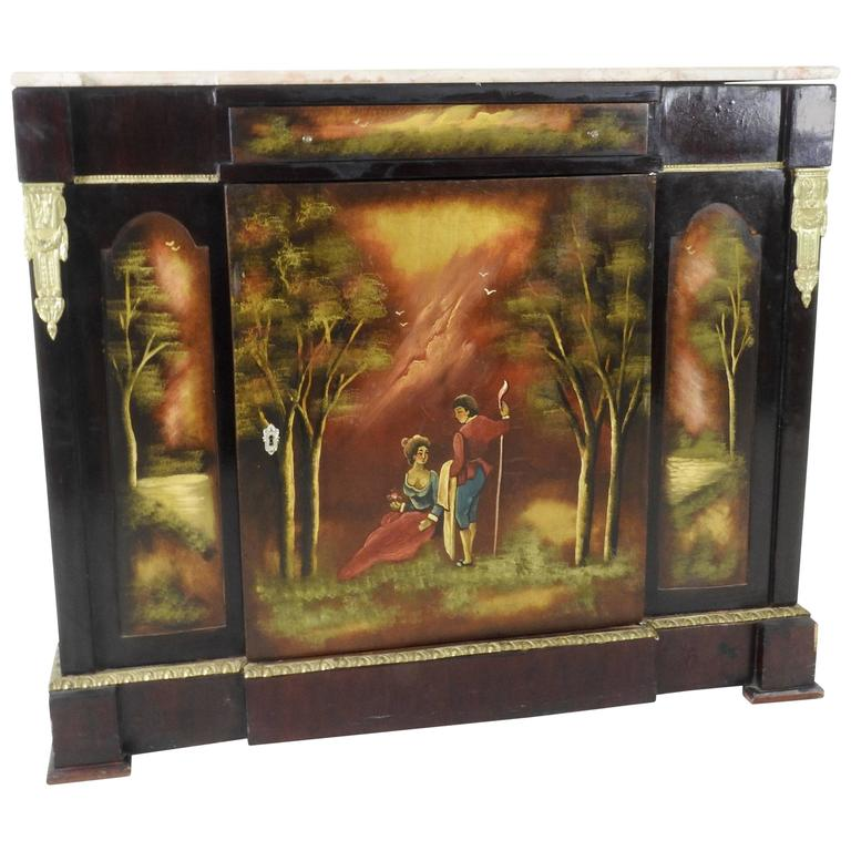 Early 20th Century Hand-Painted French Commode with Ormolu