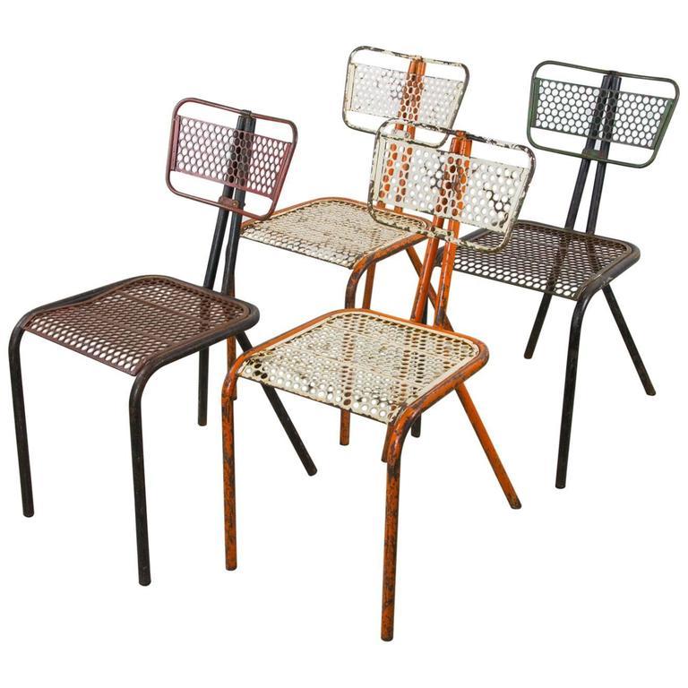 Rare Set of Four Rene Malaval 'Radar' Chairs For Sale