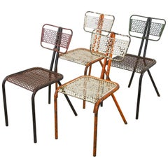 Rare Set of Four Rene Malaval 'Radar' Chairs
