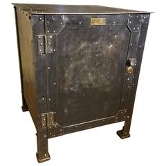 Industrial Riveted Steel Cabinet, circa 1910