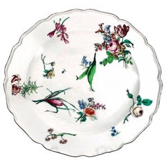 18th Century Antique Chelsea Porcelain Large Dish, Red Anchor Period
