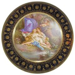 19th Century Antique French Sevres Porcelain Plate, Signed