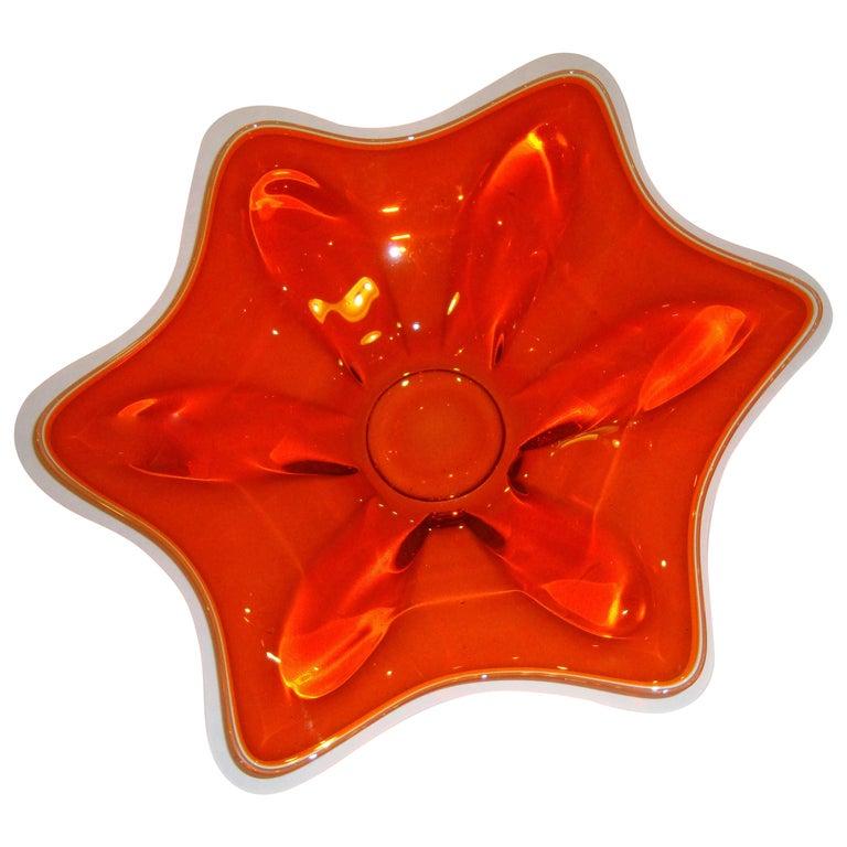 Finely Designed Murano Glass Centre Bowl For Sale