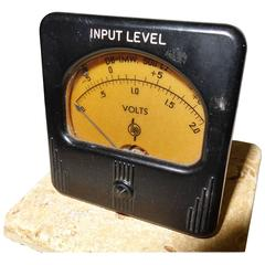 Simpson Meter, Made for Early Hewlett Packard, Stone Mounted Paperweight ON SALE