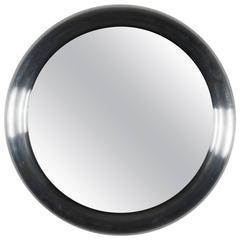 Circular Stainless Steel Mirror by Carl Aubock
