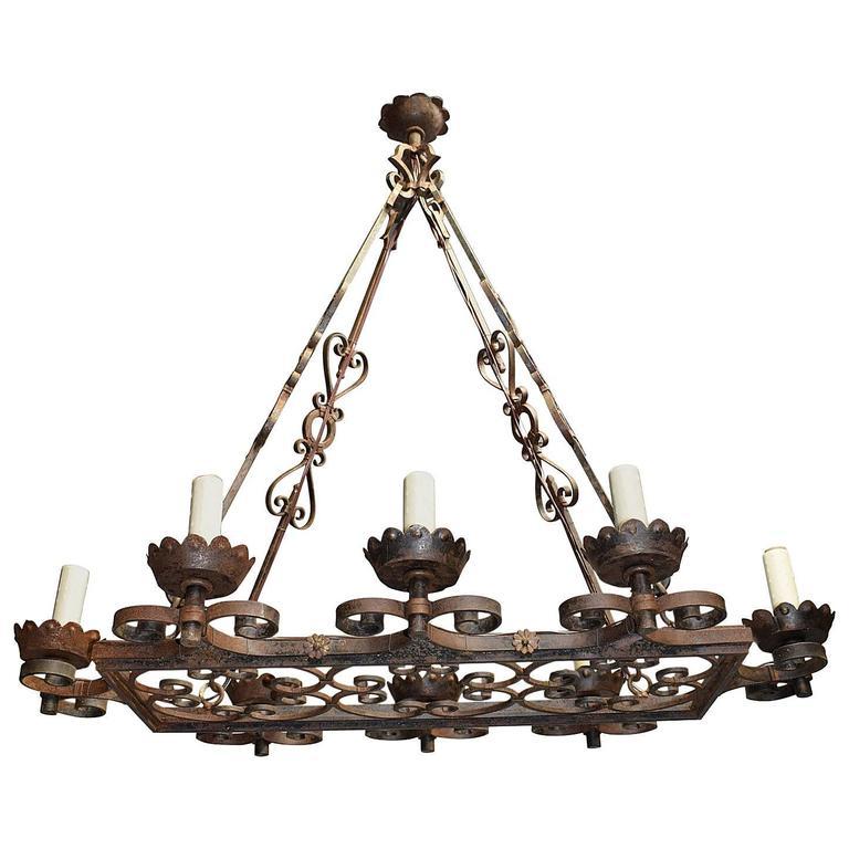 Antique Chandelier, Iron