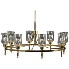 Beautiful Large Brass Chandelier by Svend Mejlstrøm