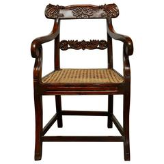 19th Century Anglo Indian Rosewood Armchair