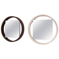 Iconic 1950s Black and White Modernist Mirror by Benno Premsela for 't Spectrum