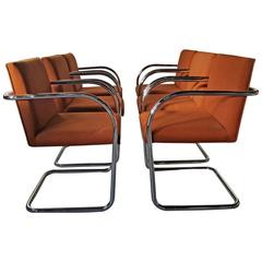 Set of 12 Classic Brno Cantilever Armchairs, Mies Van Der Rohe /Lilly Reich
