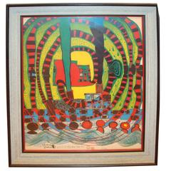 Journey ii and Travel by Rail by Friedensreich Hundertwasser