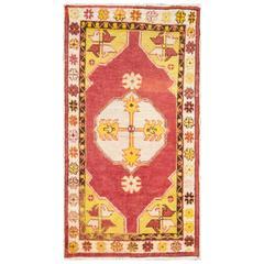 Great Antique Anatolian Oushak Rug