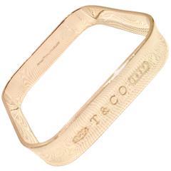21st Century Tiffany & Company Sterling Silver Square Bangle Bracelet
