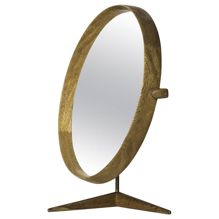 Uno & Östen Kristiansson Table Mirror by Luxus in Sweden 1