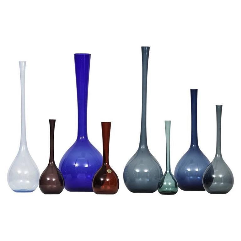 Arthur Percy Glass Vases by Gullaskruf in Sweden For Sale