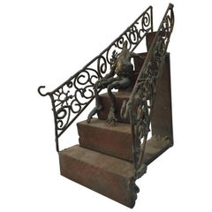 Macabre Surreal Brutalist Steel Step Sculpture