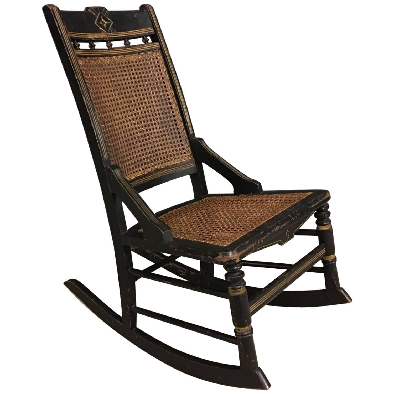 Antique French Napoleon III Rocking Chair, circa 1850s - 19th Century Rocking Chairs - 83 For Sale At 1stdibs