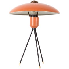 Rare 1950s Tripod Louis Kalff Table Lamp for Philips