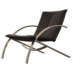 Paul Tuttle Arco Lounge Chair Designed for Strassle, 1970s