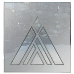 Outstanding Large Geometric Op Art Wall Mirror, or Sculpture by Greg Copeland