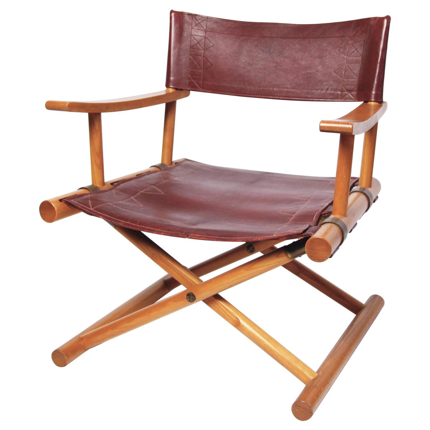 Leather Director s Chair by Sune Lindström For Sale at 1stdibs
