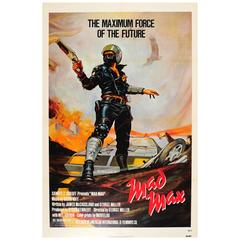 Original Vintage Sci-Fi Movie Poster, Mad Max, Mel Gibson & Music by Brian May