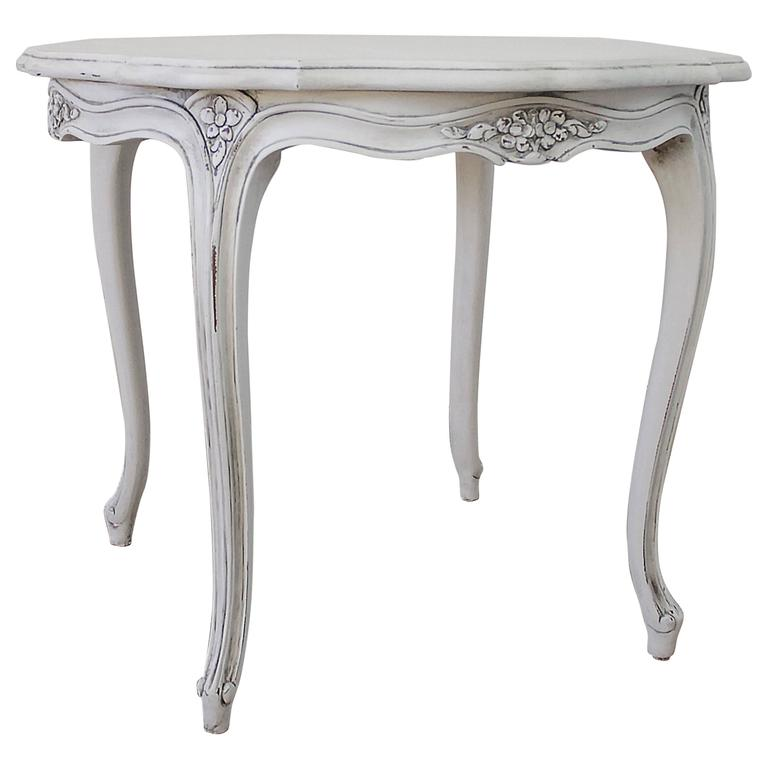 20th Century Painted Karges Side Table In The French Louis XV Style 1
