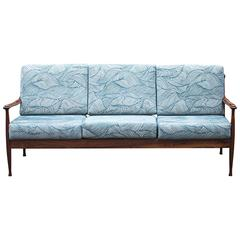 Rosewood Three-Seat Sofa, Denmark 1968