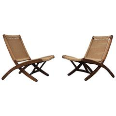 1960s Folding Rope Lounge Chairs