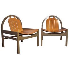 Pair of Lounge Armchairs Model Argos by Baumann
