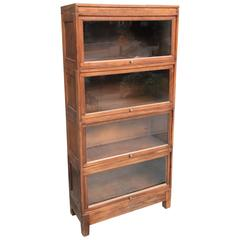 Four Stack Cherry Wood Barrister Book Case by Globe Wernicke