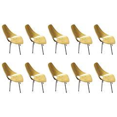 Fantastic Set of Ten Medea Chairs By Vittorio Nobili Signed, circa 1960