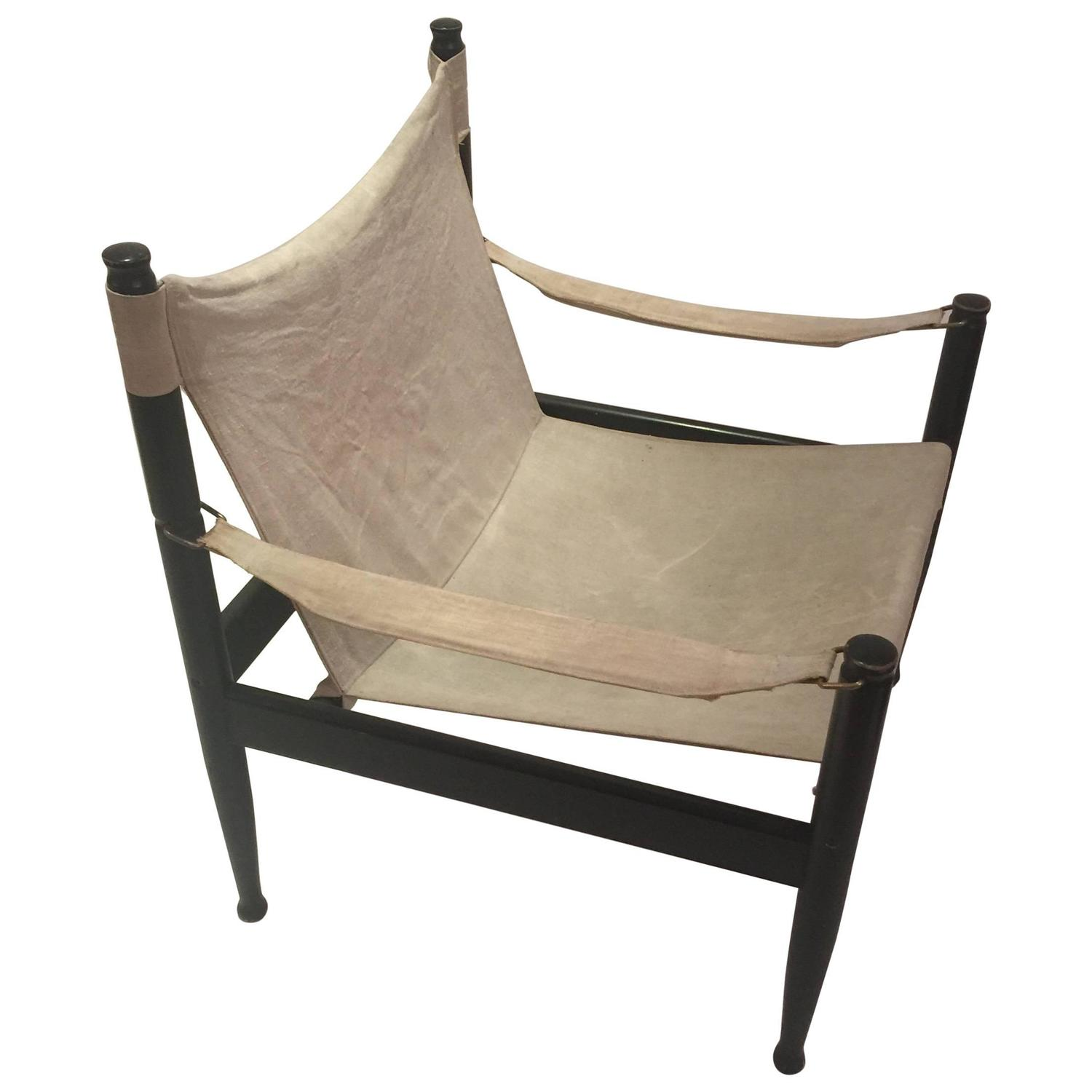 Erik Worts for Niels Eilersen Safari Chair For Sale at 1stdibs