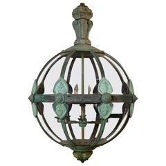 Enormous (2.5m high) Very Rare Classical Copper Globe Lantern
