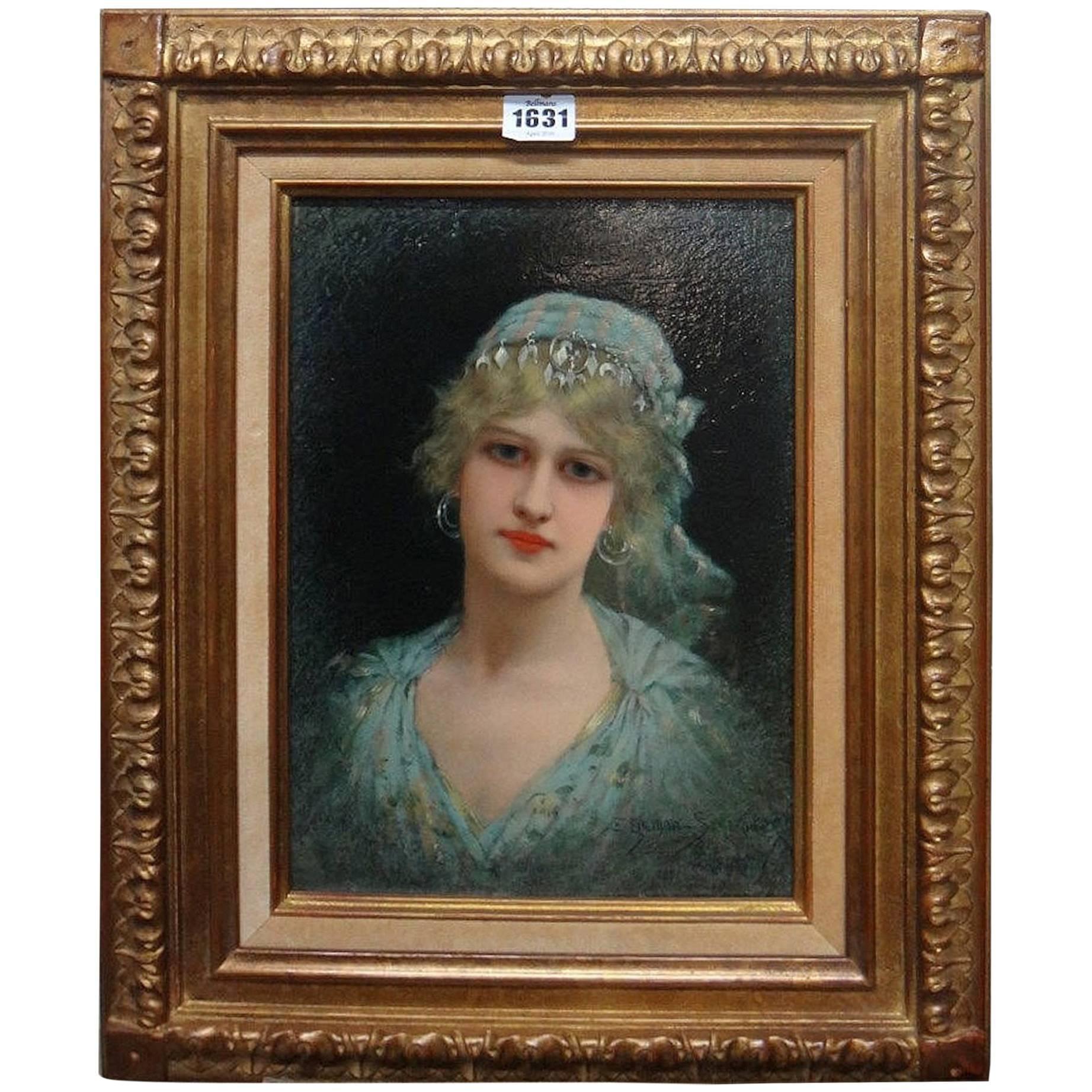 Émile Eisman-Semenowsky, Portrait of a Lady in Eastern Dress