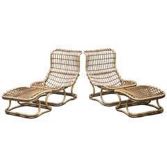 Tito Agnoli Bamboo Lounge Chair for Bonacina, Italy, 1965