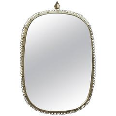 Huge Swedish Brass Wall Mirror Josef Frank