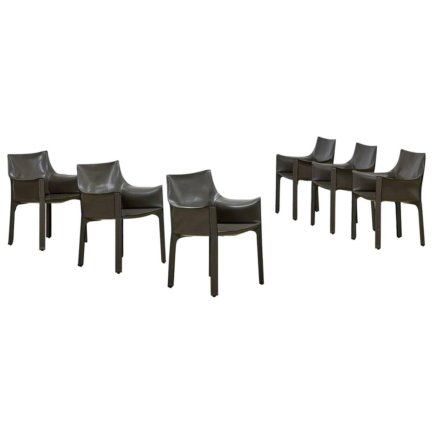 Mario Bellini Cab Chairs Set of Six For Sale at 1stdibs