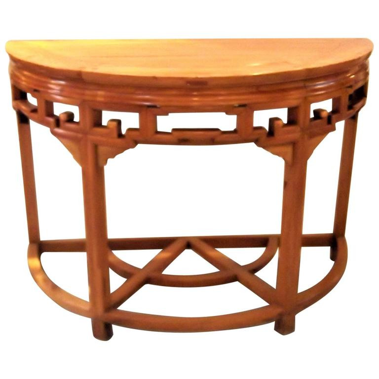 Asian style demilune console table for sale at stdibs