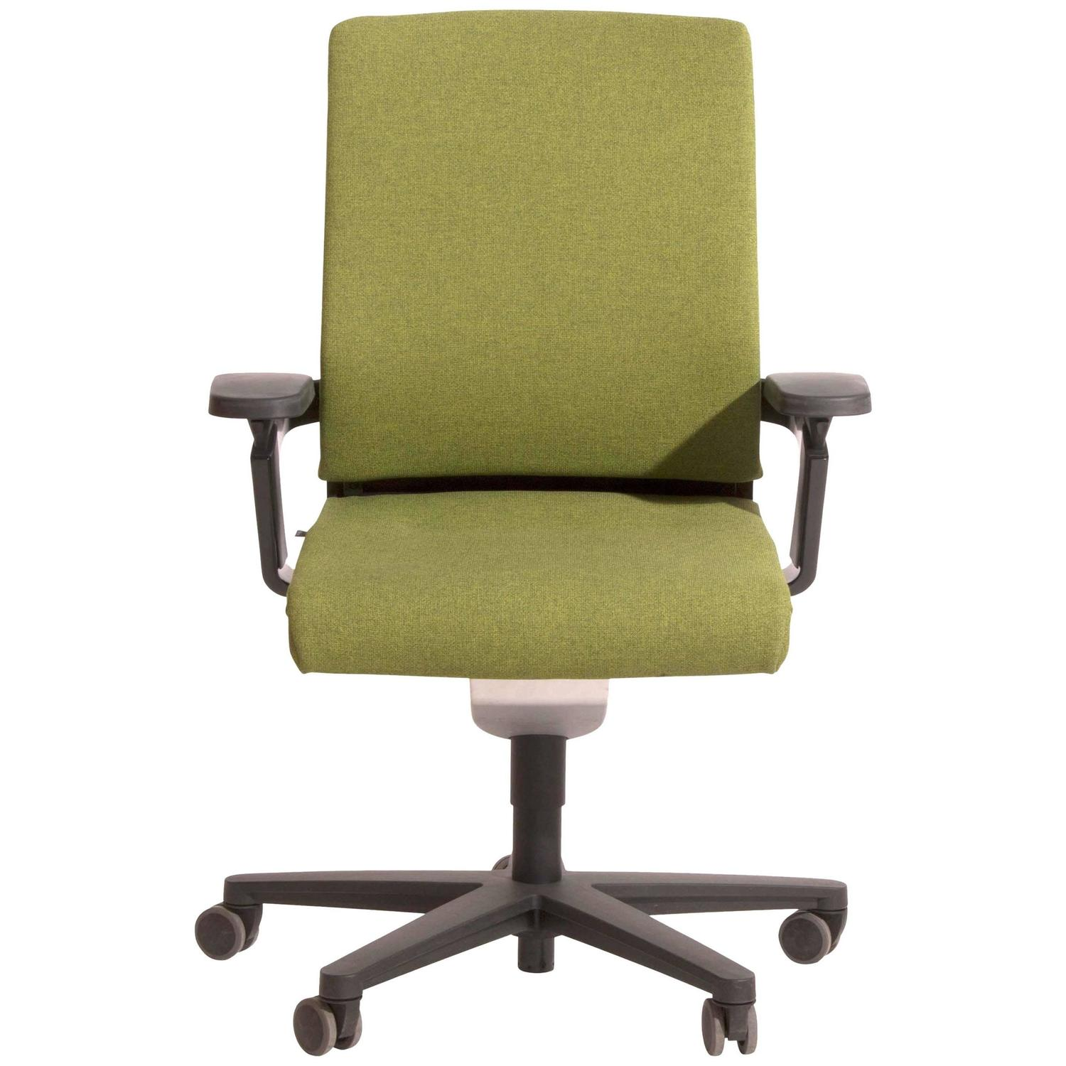 Green Fabric on 174 7 Task Armchair by Wiege for Wilkhahn Germany