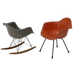 Iconic Rocker and Lounge Chair by Charles Eames for Zenith Plastics