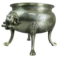 Stoddart & Co Phila, Silver Plate Tureen with Elephant Handles and Hoof Feet