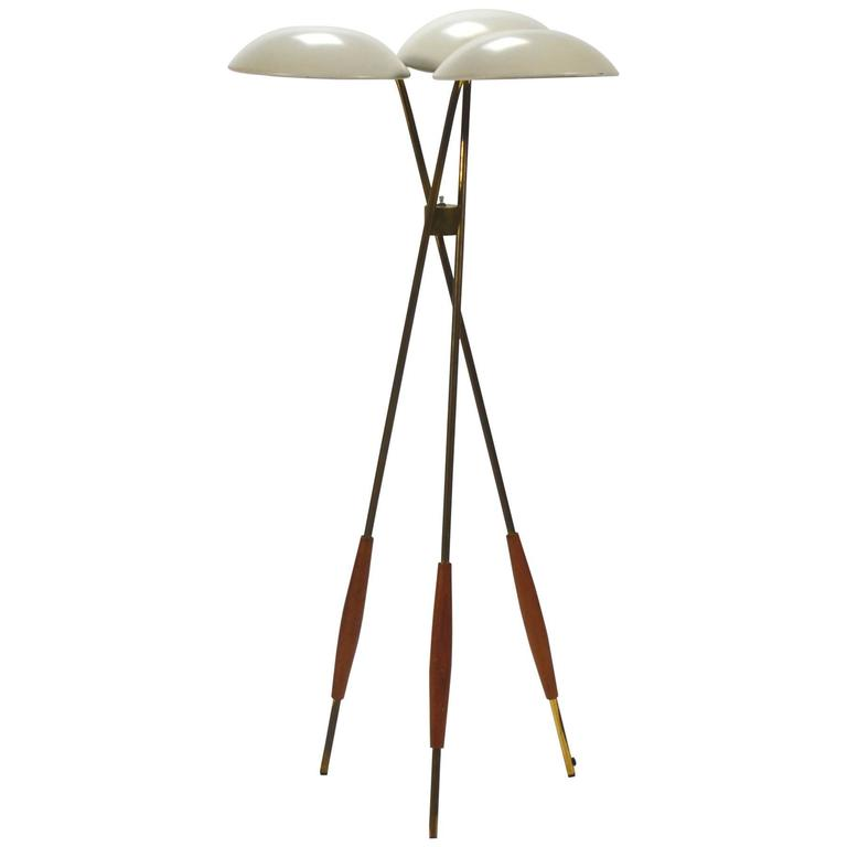 Gerald Thurston Tripod Floor Lamp by Lightolier at 1stdibs