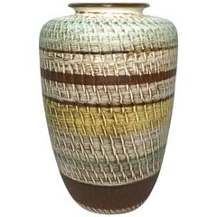 West German Pottery Vase Attributed to Dümler & Breiden