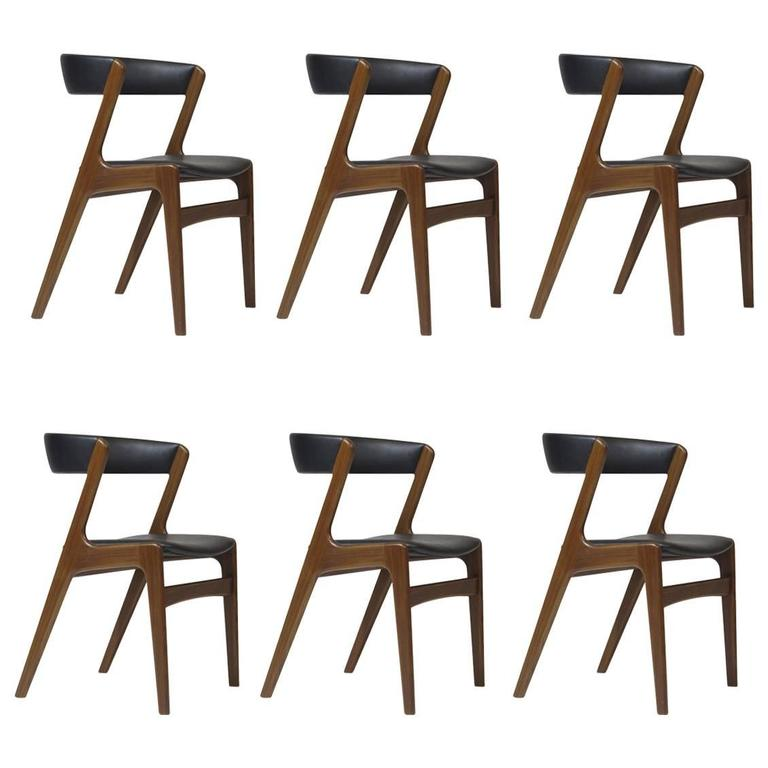 Danish Curved Back Dining Chairs