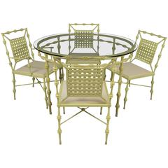 Vintage 1960s Aluminium Dining Set by Phyllis Morris