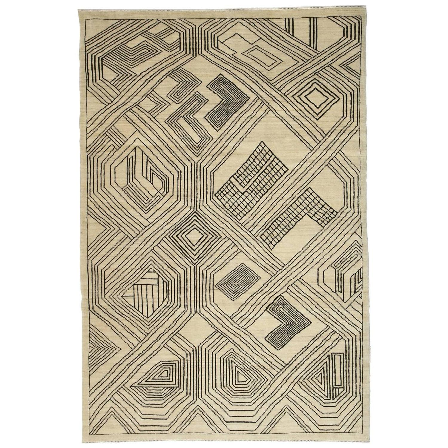 Orley Shabahang Signature Carpet In Handspun Wool Undyed