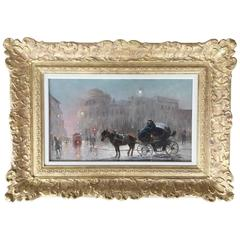 """The Evening Carriage Warsaw"" by Czesław Wasilewski"